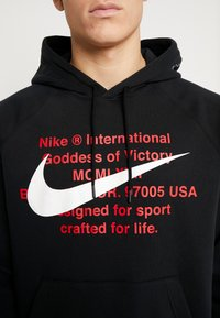 Nike Sportswear - HOODIE - Bluza z kapturem - black/white - 5