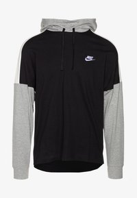 Nike Sportswear - Jersey con capucha - black/dk grey heather/sail/(white) - 3