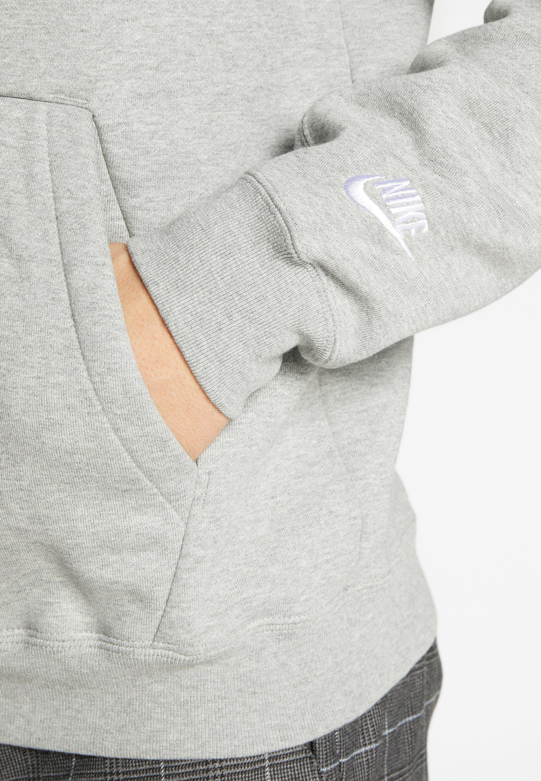 Nike Sportswear HOODIE - Bluza z kapturem - grey heather