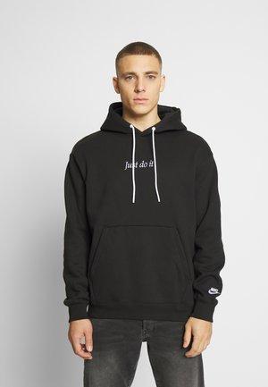 HOODIE - Bluza z kapturem - black/white