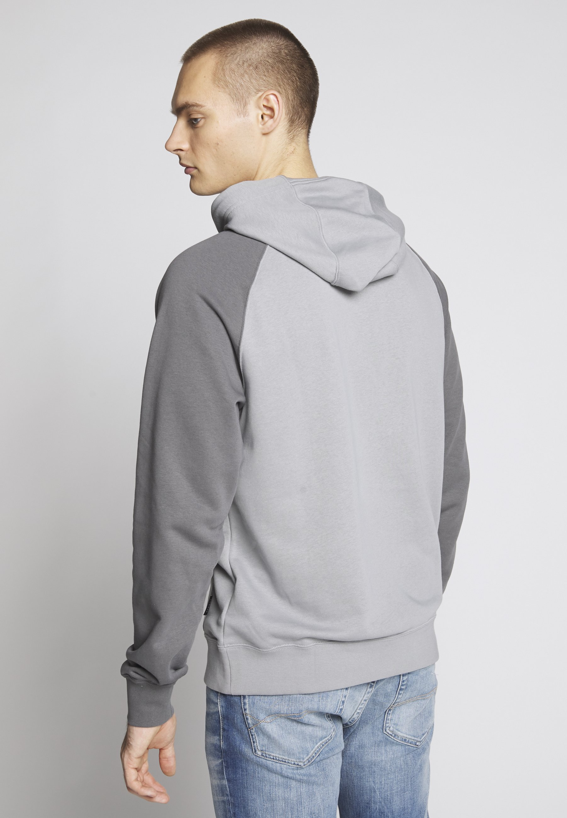 HOODIE Sweat à capuche particle greyiron greywhite