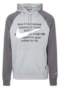 Nike Sportswear - HOODIE - Sweat à capuche - particle grey/iron grey/white - 0