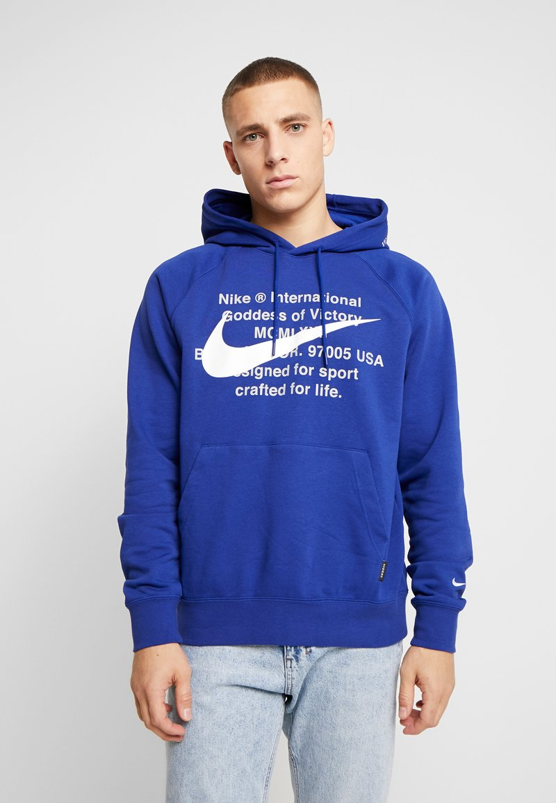 Nike Sportswear - HOODIE - Hoodie - deep royal blue/white