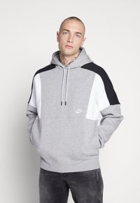 Nike Sportswear - HOODIE - Hættetrøjer - grey heather/white/black - 0