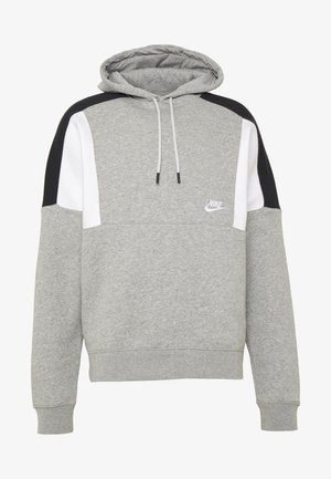 HOODIE - Felpa con cappuccio - grey heather/white/black