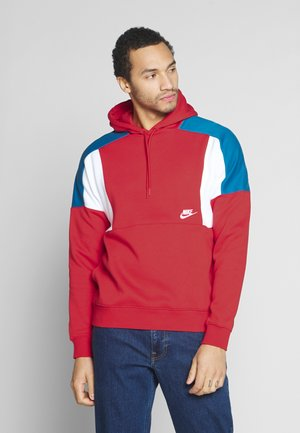 HOODIE - Felpa con cappuccio - university red/white/industrial blue