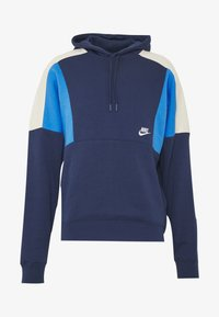 Nike Sportswear - HOODIE - Bluza z kapturem - midnight navy/pacific blue/light bone white - 3
