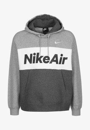 AIR HOODIE - Hoodie - dark grey heather/white
