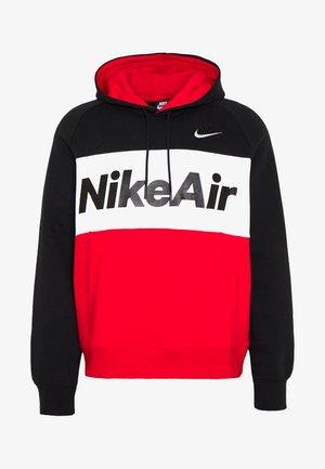 AIR HOODIE - Sweat à capuche - black/white/university red