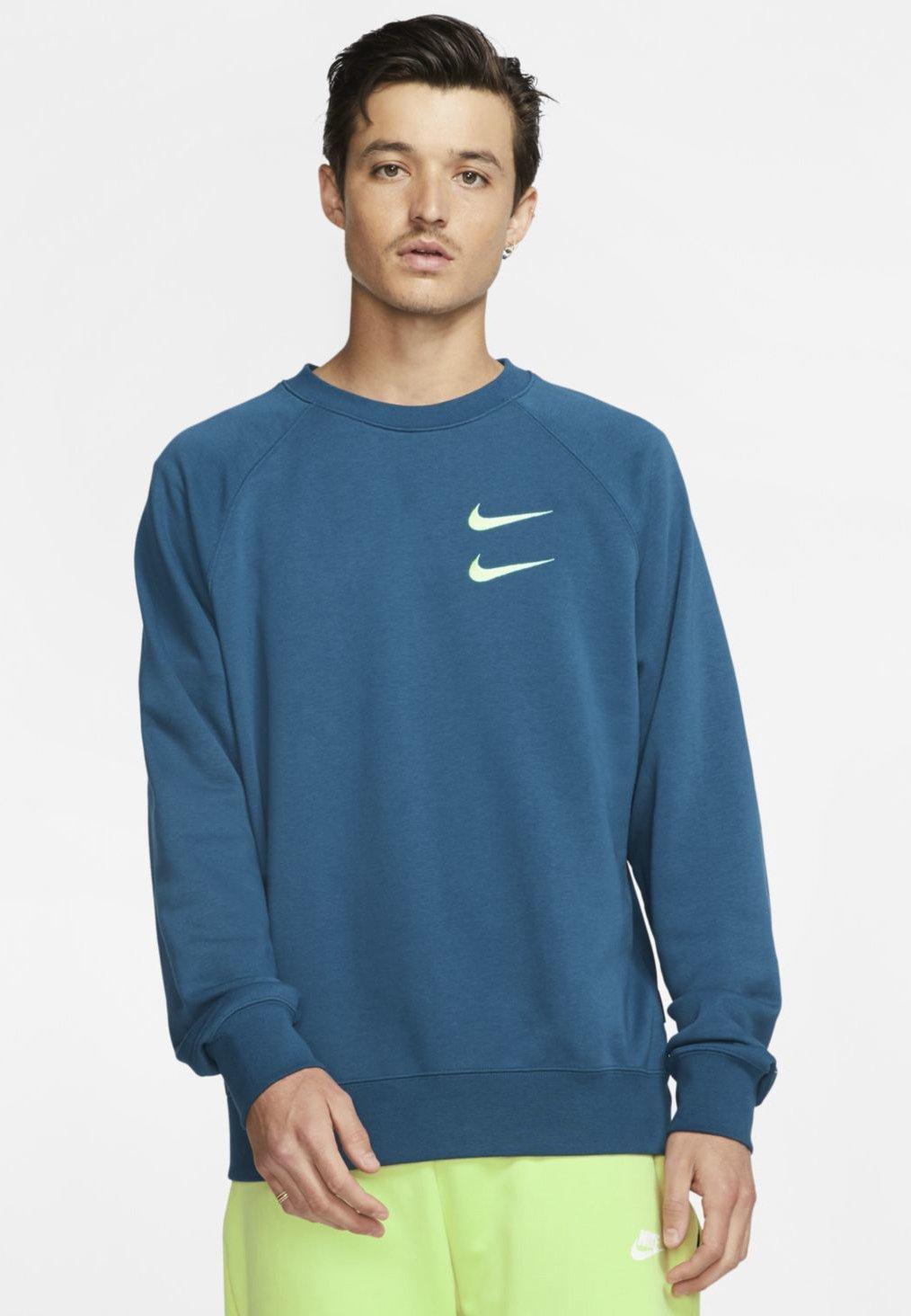 Nike Sportswear M NSW RW FT - Bluza - blue force/barely volt