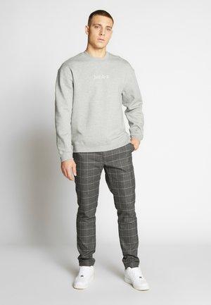 Bluza - dark grey heather/white