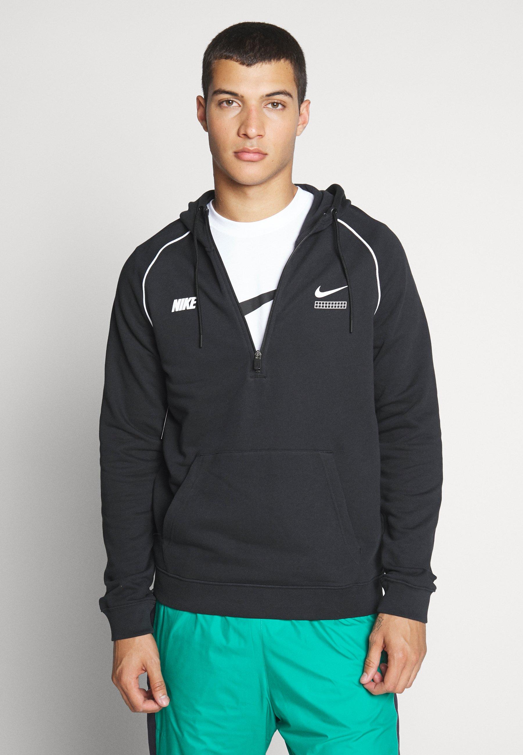 Nike Sportswear HOODIE - Bluza z kapturem - black/white