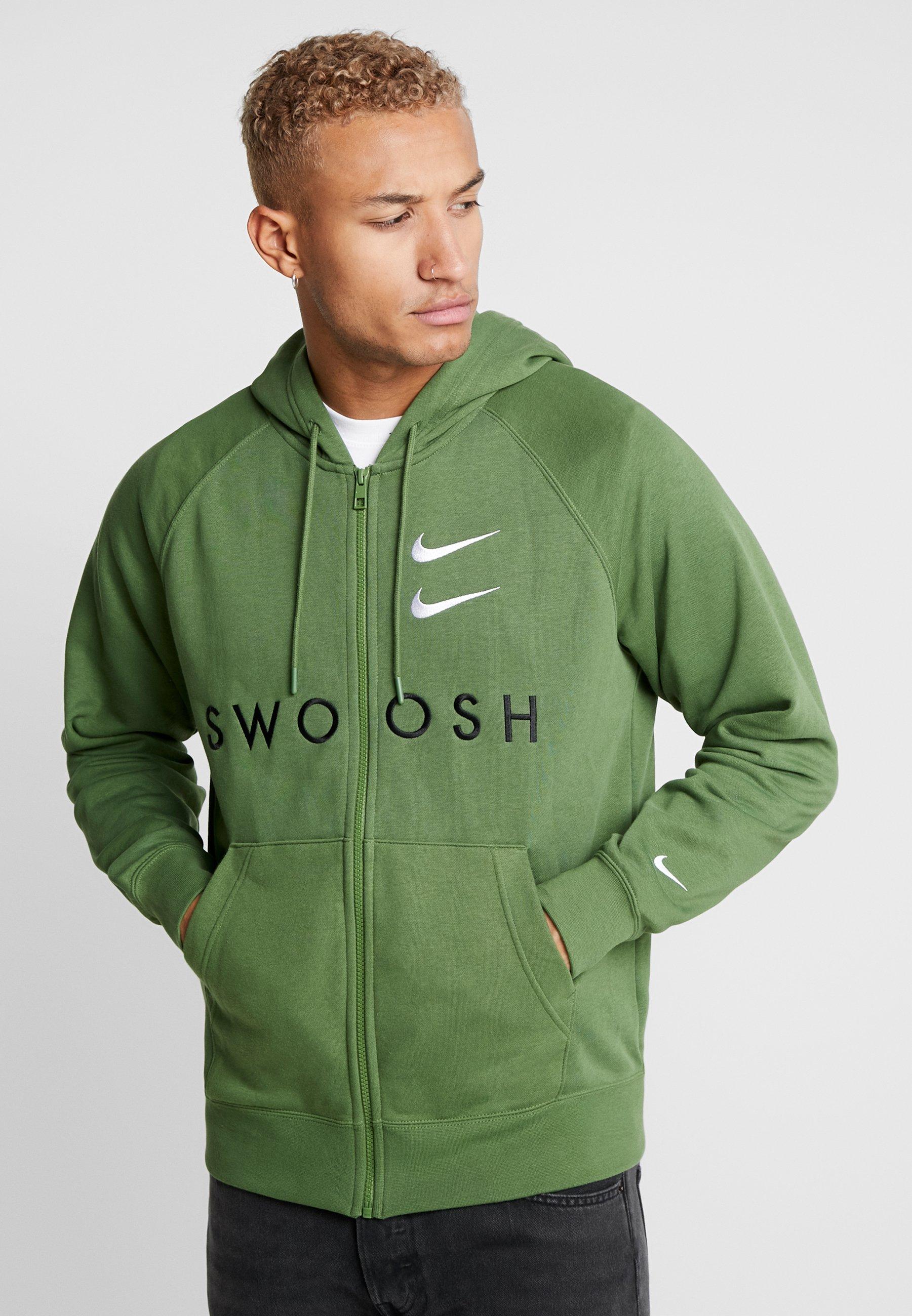 Nike Sportswear M NSW HOODIE FZ FT - Bluza rozpinana - treeline/black