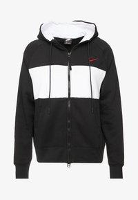 Nike Sportswear - HOODIE  - Zip-up hoodie - black/white/red - 5