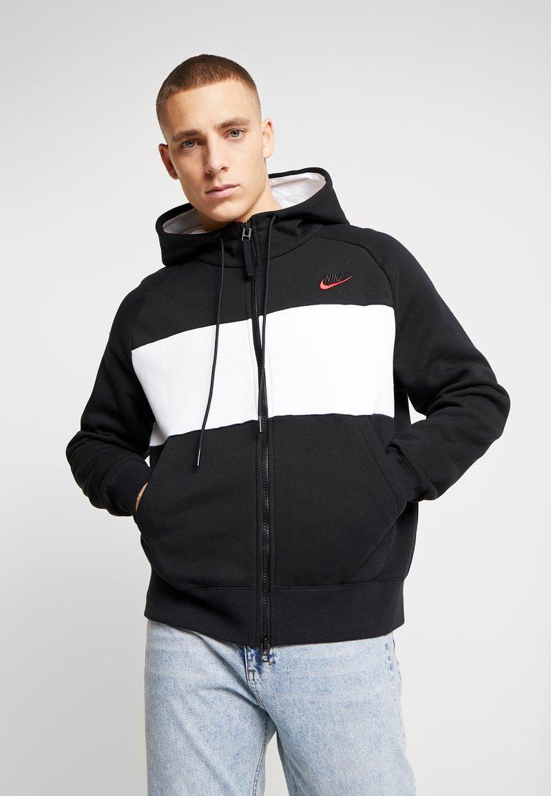 Nike Sportswear - HOODIE  - Zip-up hoodie - black/white/red