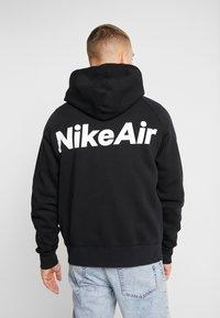 Nike Sportswear - HOODIE  - Zip-up hoodie - black/white/red - 2