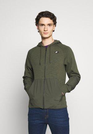 HOODIE MIX - veste en sweat zippée - cargo khaki