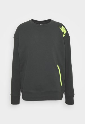 FESTIVAL CREW - Sweatshirts - dark smoke grey/volt