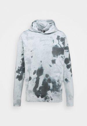 HOODIE DYE - Jersey con capucha - smoke grey/white