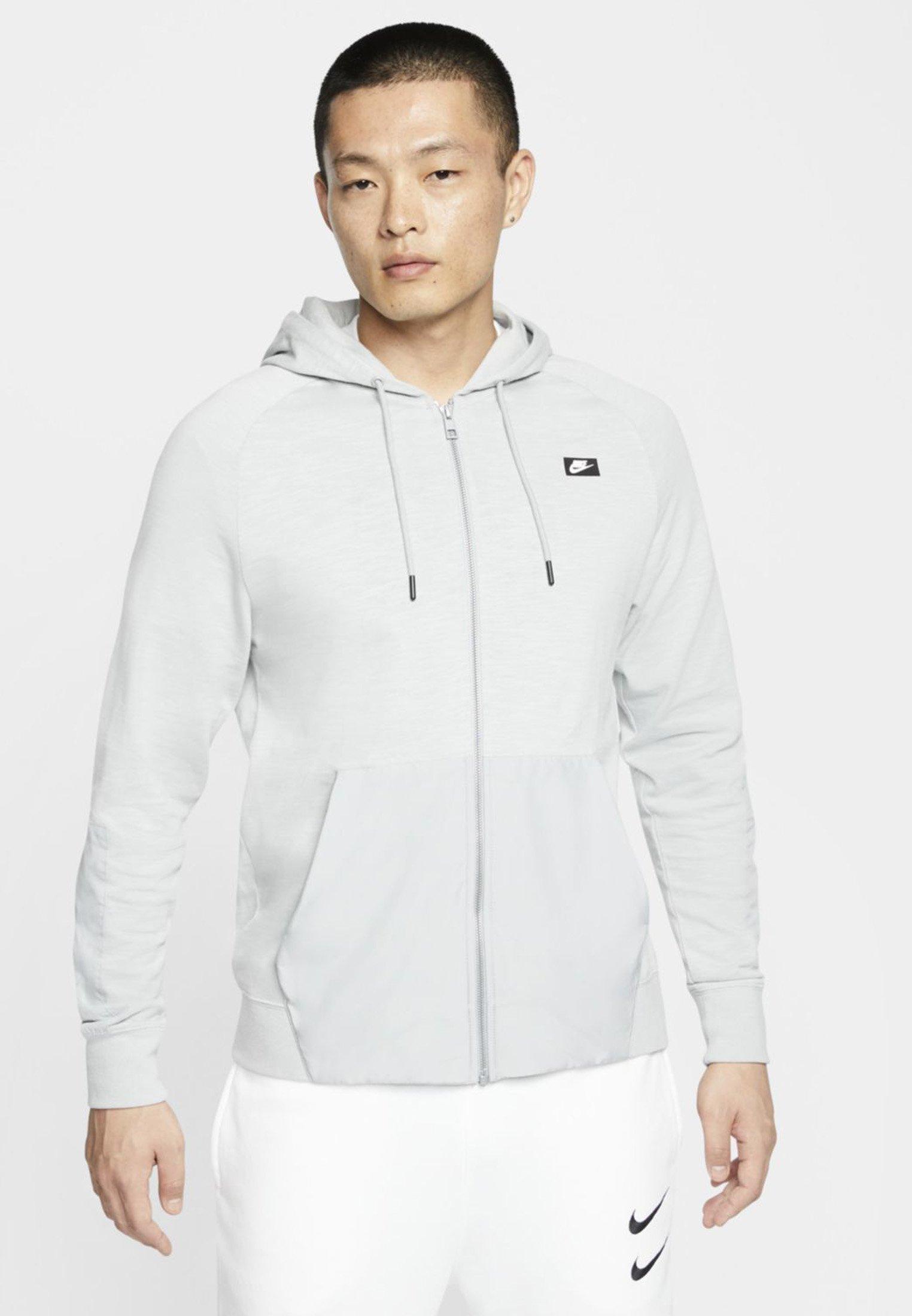Nike Sportswear NIKE SPORTSWEAR MEN'S FULL-ZIP HOODIE - Bluza rozpinana - light smoke grey/light smoke grey
