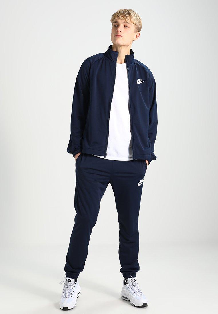 Nike Sportswear - BASIC - Tracksuit - obsidian/white