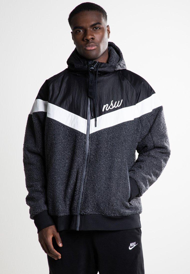 Nike Sportswear - SHERPA - Chaqueta fina - black/dark grey/summit white