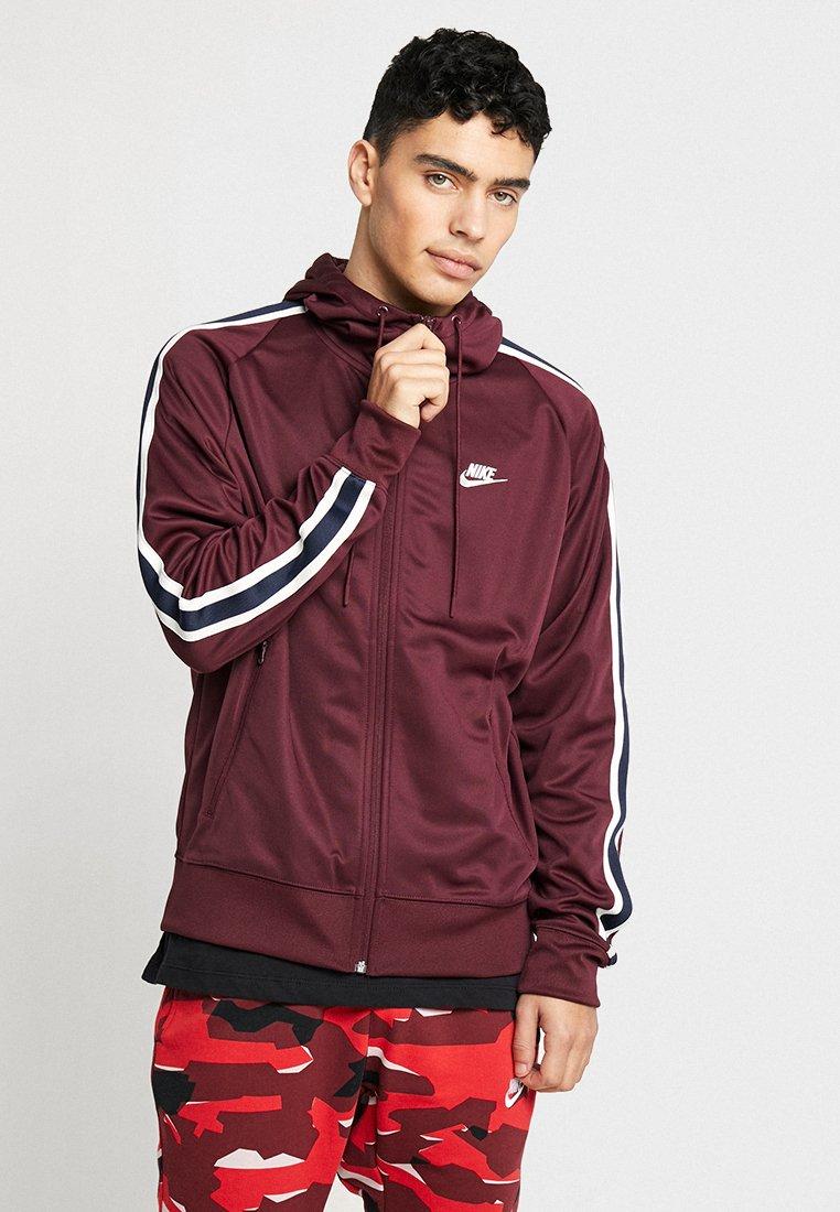 Nike Sportswear - HOODIE TRIBUTE - Veste de survêtement - night maroon/sail