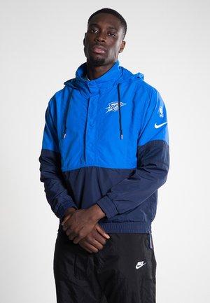 NBA OKC THUNDER HD PO - Veste coupe-vent - signal blue/college navy/white