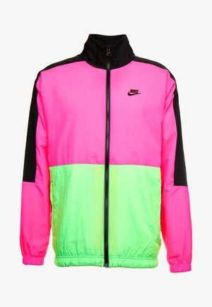 Träningsjacka - black/hyper pink/scream green