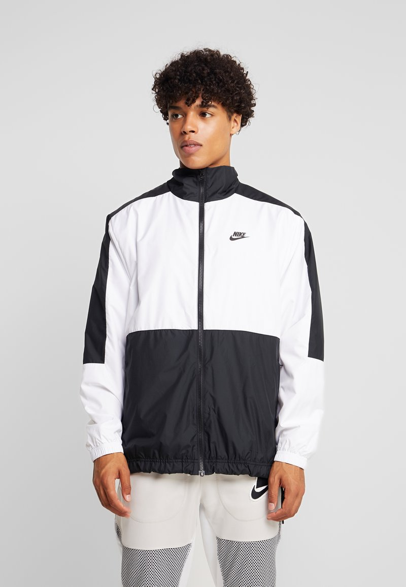 Nike Sportswear - WOVEN JACKET - Training jacket - black/light bone/volt