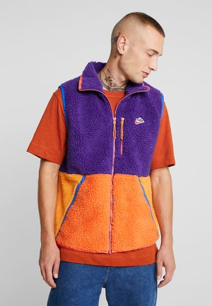VEST WINTER - Waistcoat - court purple/kumquat/starfish