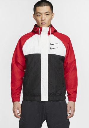 Summer jacket - red/white/black