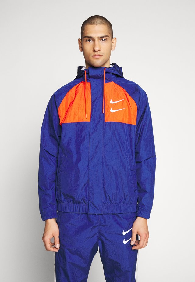 Chaqueta fina - deep royal blue/team orange/white