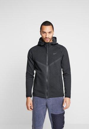 HOODIE - Zip-up hoodie - black/anthracite