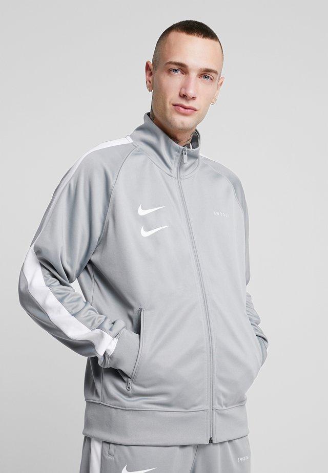 Träningsjacka - particle grey/white/black