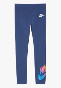 Nike Sportswear - FAVORITES - Leggings - Trousers - mystic navy/white - 0