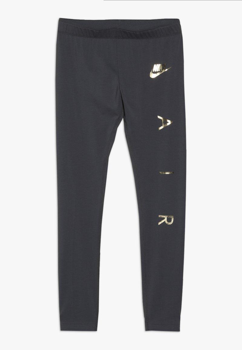 Nike Sportswear - FAVORITES AIR - Leggings - Trousers - dark grey/metallic gold