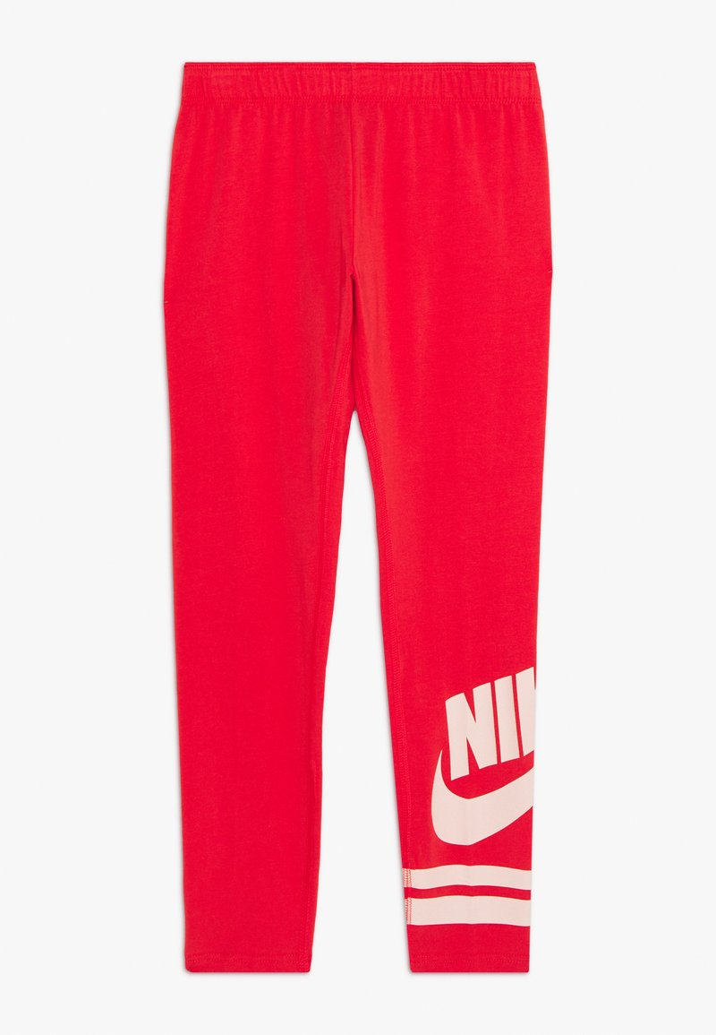 Nike Sportswear - FAVORITE  - Legíny - track red/washed coral