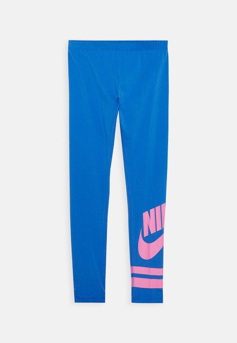 Nike Sportswear - FAVORITE  - Leggings - Trousers - pacific blue/magic flamingo