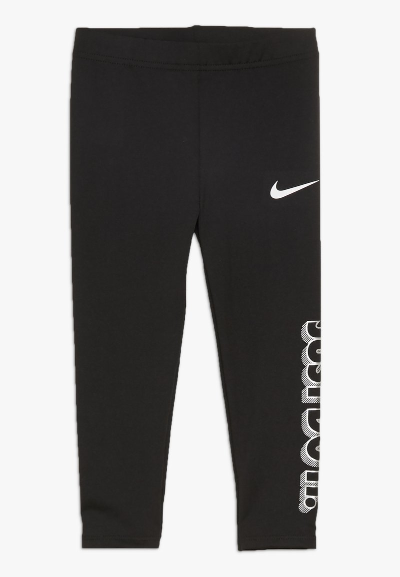 Nike Sportswear - GIRLS JUST DO IT IRIDESCENT - Leggings - black
