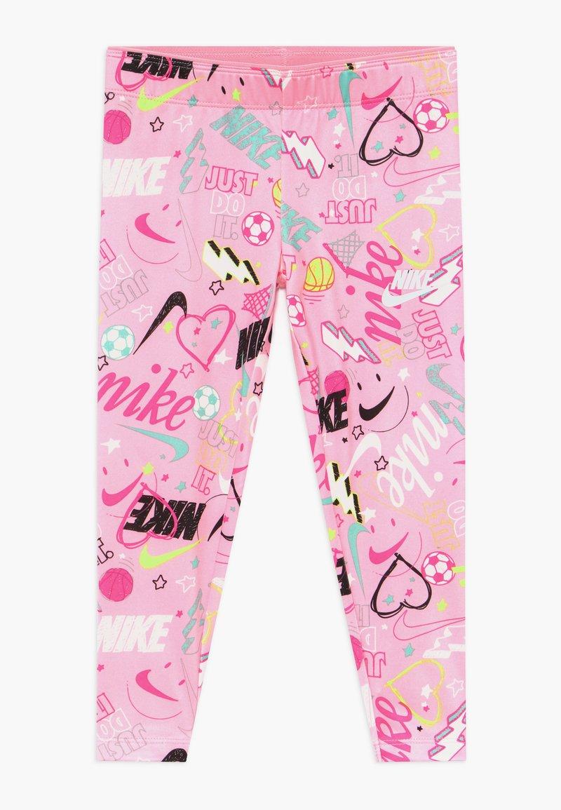 Nike Sportswear - SCRIBBLE PRINT - Leggings - pink