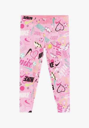 SCRIBBLE PRINT - Leggings - Trousers - pink