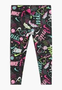 Nike Sportswear - SCRIBBLE PRINT - Legging - black - 1