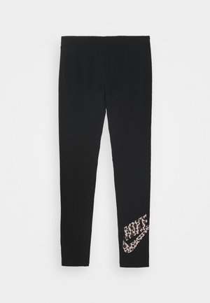 FAVORITE - Leggings - Trousers - black/fossil stone
