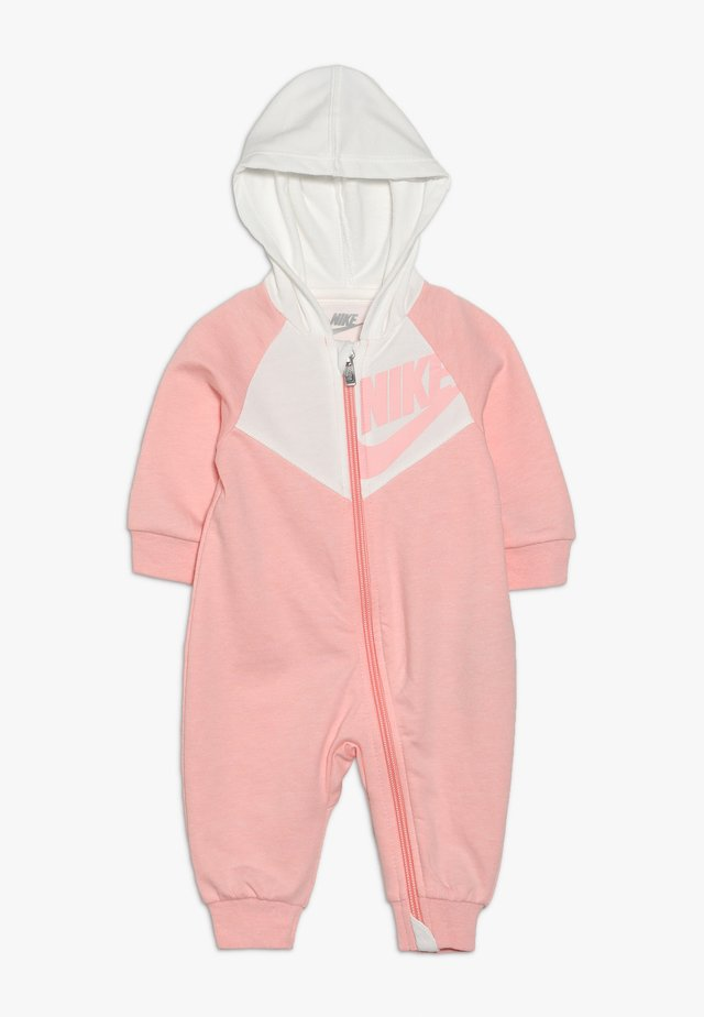 CHEVRON COVERALL BABY - Mono - bleached coral heather