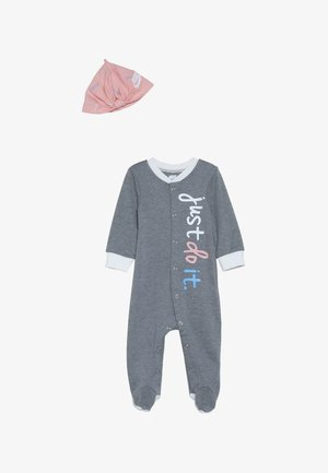 FOOTED COVERALL HAT BABY - Combinaison - dark grey heather