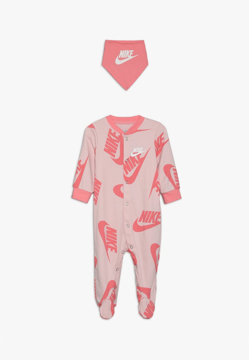 Nike Sportswear - FOOTED COVERALL BIB BABY SET - Tuch - echo pink