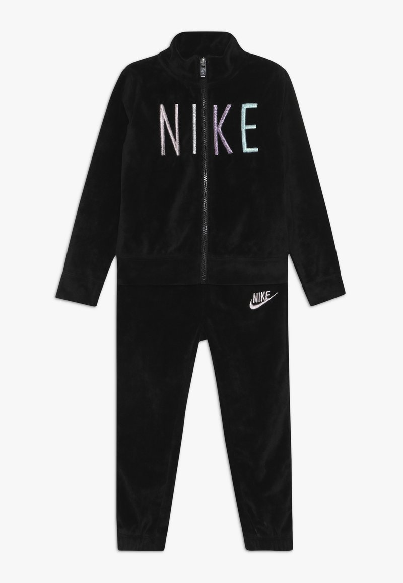 Nike Sportswear - SHINE TRACK BABY SET  - Trainingspak - black