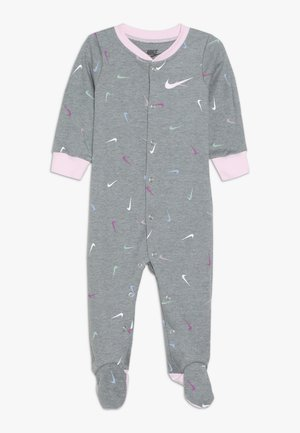 SWOOSHFETTI FOOT COVERALL - Dupačky - dk grey heather
