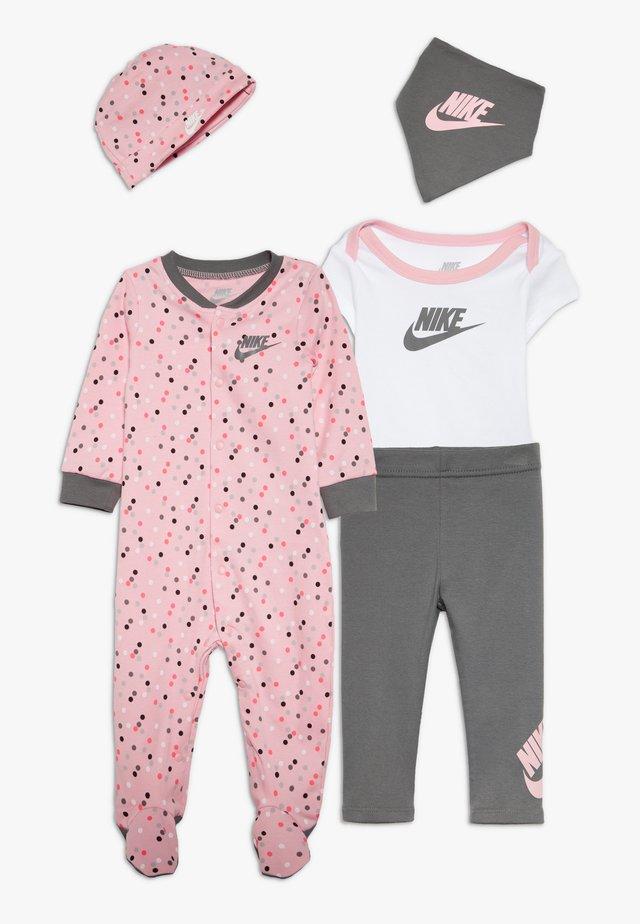 SET BABY - Tuch - light pink/smoke grey